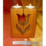 Mécsestartó (gyertyatartó) fából KP – 1/2 – GYL