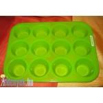 Szilikon muffin sütőforma (mini) 12 db – ós KP – 85/25 – KH