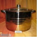 Rozsdamentes fazék üvegfedővel 14 literes KP – 14/1 – RM