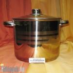 Rozsdamentes fazék üvegfedővel 6 literes KP – 6/1 – RM