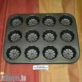 Muffin sütőforma cirádás 12 db-os KP – 12/1 – OL