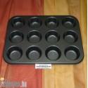 Muffin sütőforma sima 12 db-os KP – 12/1 – OL