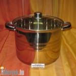 Rozsdamentes fazék üvegfedővel 10 literes KP – 10/1 – RM