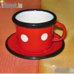 Zománcozott kávéscsésze tányérkával KP-2/1-BB
