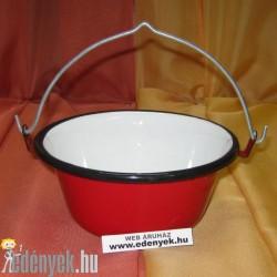Piros tálalóbogrács zománcozott KP – 16/7 – BB