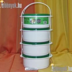 Műanyag ételhordó 4 részes 101/409-Z