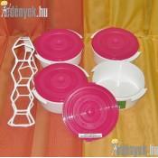 Műanyag ételhordó 4 részes 101/409-P