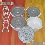 Műanyag ételhordó 4 részes 101/409-SZ
