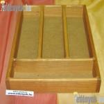 Evőeszköztartó 4 rekeszes fából 036/023-GYL