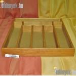 Evőeszköztartó 7 rekeszes fából 044/036-GYL