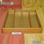 Evőeszköztartó 5 rekeszes fából 036/029-GYL