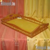 Reggeliző rácsos fatálca KP-059/038-GYL