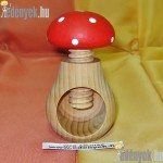 Gomba formájú diótörő fából pirospöttyös KP-014/007-TOR