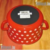 Zománcozott piros pöttyös fazék 2,5 literes 653406 DOM