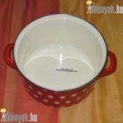 Zománcozott piros pöttyös fazék 3,5 literes 653413 DOM