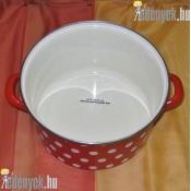 Zománcozott piros pöttyös fazék 4,5 literes 653420 DOM