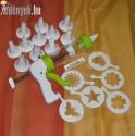Habcsókkészítő tortadíszítő 19 részes 8582 DOM