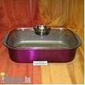 Indukciós kacsasütő aromafedővel gránit bevonatos  0342 AMB L