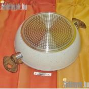 Gránitbevonatós indukciós mély serpenyő üvegfedővel 3,50 literes 800/374-AMB