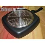 Kerámia bevonatos indukciós szögletes grill serpenyő KP – 10/44 – AMB