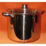 Rozsdamentes fazék üvegfedővel 12 literes KP – 12/1 – RM