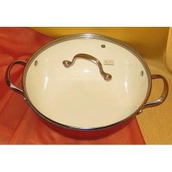 Zománcozott öntöttvas wok