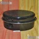 Zománcozott ovális kacsasütő 10 literes 653/758 DOM