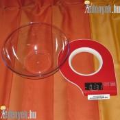 Digitális kijelzésű konyhai mérleg 459349 DAJ