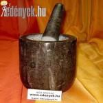 Márvány mozsár fekete KP – 128/00 – PH