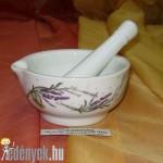 Porcelánmozsár levendulás KP – 89/62 – BQT