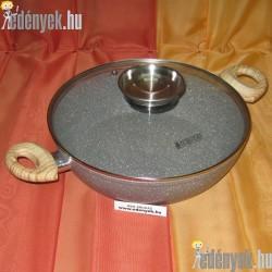 Indukciós mély serpenyő gránit bevonattal aromafedővel 3,8 literes 800480 AMB