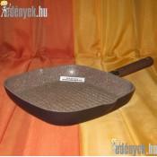 Indukciós szögletes grillserpenyő gránitbevonattal 28x28 cm AMB 341907
