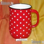 Piros pöttyös zománcozott vizeskancsó 2,50 literes 006/389-BLX