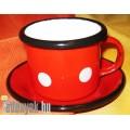 Zománcozott kávéscsésze tányérkával KP – 2/1 – BB