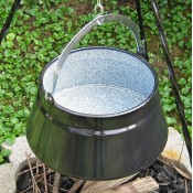 Zománcozott halfőző bogrács 16 literes KC