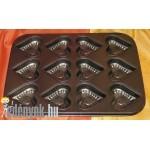 Muffin sütőforma szívalakú 12 db-os  123