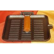 Öntöttvas grillező serpenyő szögletes KP – 103/76 – 24 – ITL